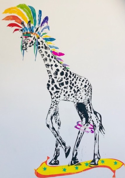 Millie McCallum, Giraffe with Headdress