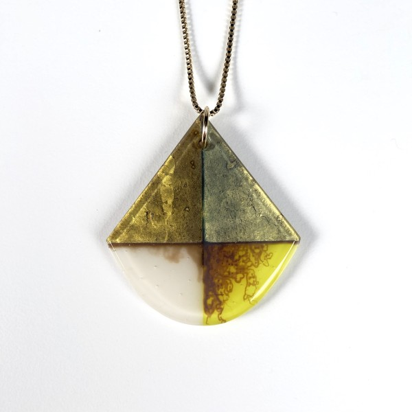 Quadrant Series - Glass Pendant Necklace No. 6