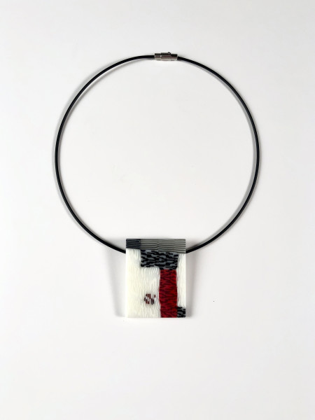 Red, White, and Black Pendant