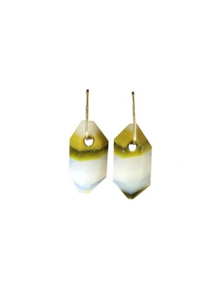 Banded Strattite Dangle Earrings