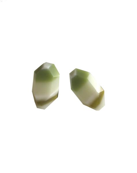 Banded Strattite Post Earrings