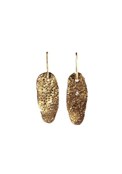 Petrified Spongy Coral Dangle Earrings