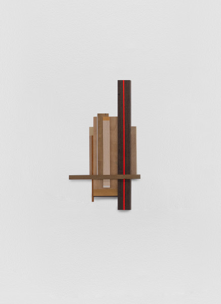 Sarah Almehairi Building Blocks 1, Series 2, 2019 Acrylic on wood 48.2 x 26.4 x 4.2 cm 19 x 10 3/8 x 1 5/8 in