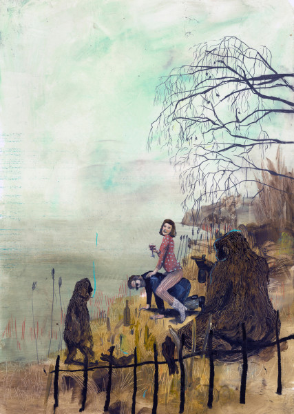 Philip Mueller, Er reitet in den Nebel, 2019
