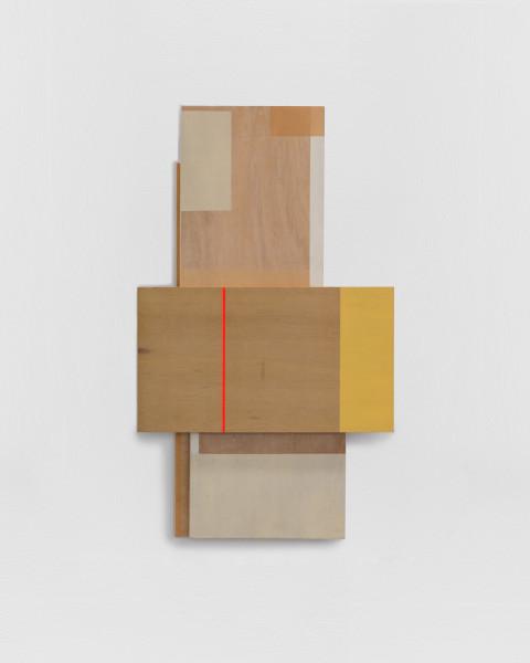 Sarah Almehairi Building Blocks 3, Series 1, 2018 Acrylic on wood 97 x 57 x 5.4 cm 38 1/4 x 22 1/2 x 2 1/8 in