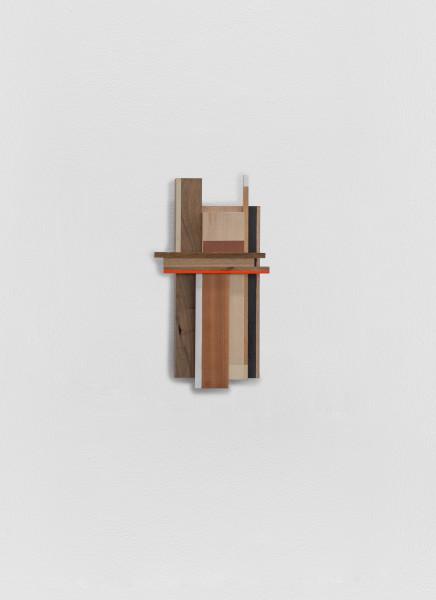 Sarah Almehairi Building Blocks 3, Series 2, 2019 Acrylic on wood 40.2 x 21.4 x 4 cm 15 7/8 x 8 3/8 x 1 5/8 in