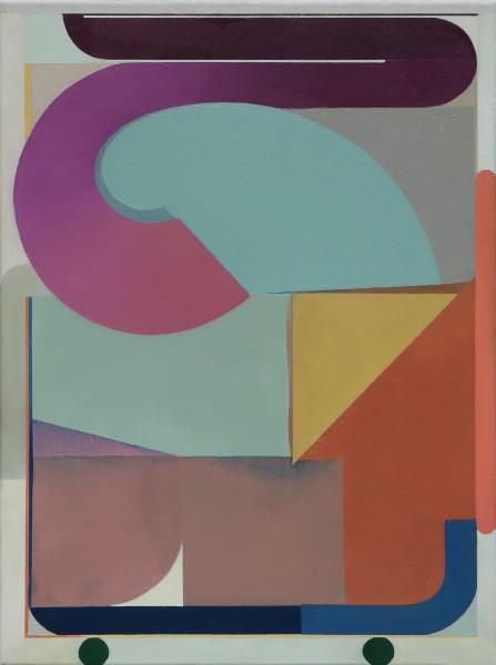 Bernhard Buhmann The Curl, 2019 Oil on canvas 57 x 41 cm 22 1/2 x 16 1/8 in