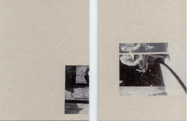 Sarah Almehairi Fictionalized Structures 3, 2019 Print on vellum mounted on bookboard Diptych 14 x 10.5 cm each 5 1/2 x 4 1/8 in each