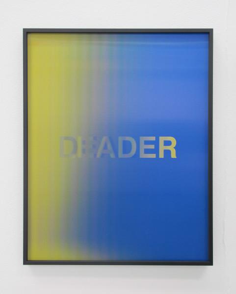 Anahita Razmi LEADERS/DEALERS (Dark Blue/Yellow), 2018 HD lenticular print 50 x 40 cm 19 3/4 x 15 3/4 in Edition of 3 + 1 AP