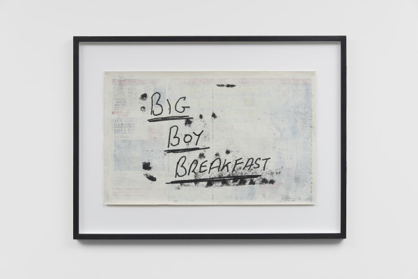 Joe Sweeney, Palimpsest series: Big Boy Breakfast , 2019