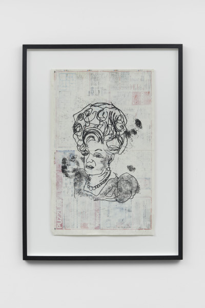 Joe Sweeney, Palimpsest Series: Girl With A Little Bit Extra , 2019