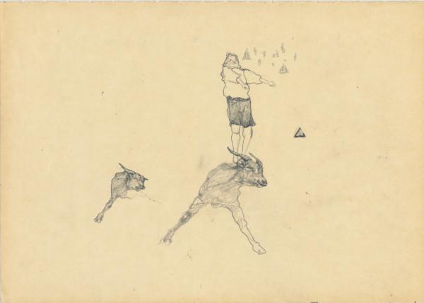 Cat Roissetter, Goat Jig Sketch, 2008