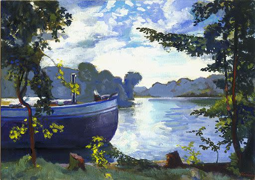 Kevin Kadar, Old Barge on the Spree, 2009
