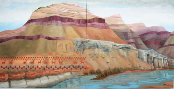 Kay WalkingStick, Salt River Canyon, 2016