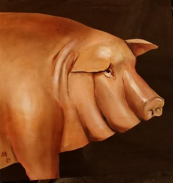 Matthew Dennison, Le Cochon (The Pig), 2019