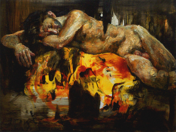 Kevin Kadar, I'll Take What's Given (Figure Painting 1514), 2018