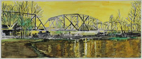 Lli Wilburn, Yellow Hayden Island Railroad Bridge, 2011