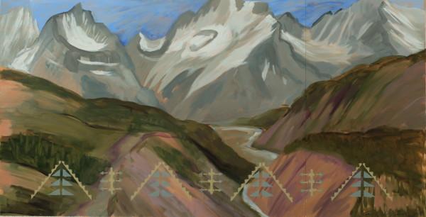 Kay WalkingStick, Glacier and Gorge, 2018