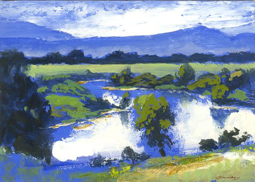 Kevin Kadar, Utah River Landscape, 2009