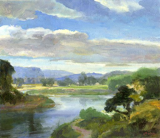 Kevin Kadar, Scappoose River View, 2009