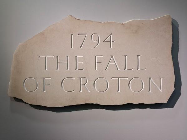 Ian Hamilton Finlay, 1794 The Fall of Croton, 1994