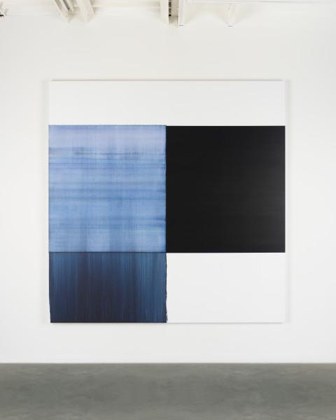 Callum Innes, Exposed Painting Oriental Blue, 2018