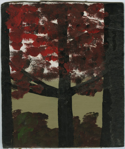 Frank Walter, Dark Tree with Red Leaves