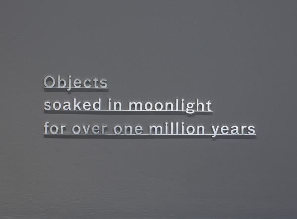 Katie Paterson, Ideas - (Objects soaked in moonlight for over one million years), 2017