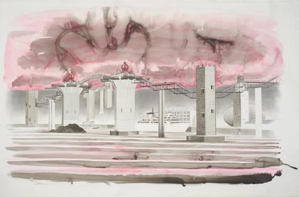 Charles Avery, Untitled (The gates of Onomatopoeia), 2019