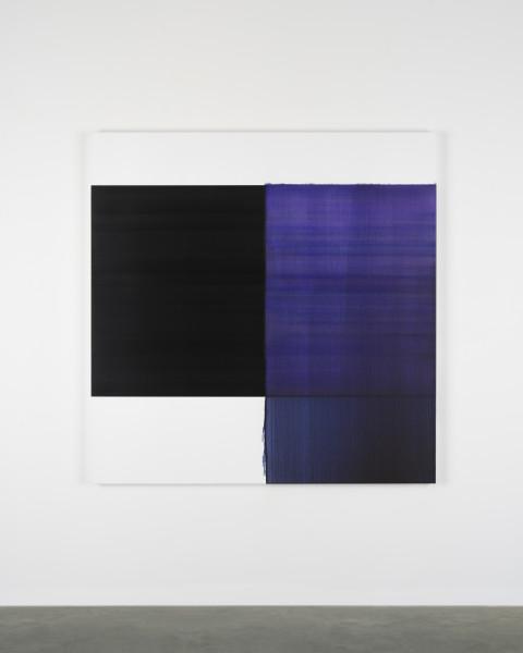Callum Innes, Exposed Painting Deep Violet, 2018