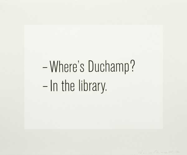 Where's Duchamp?