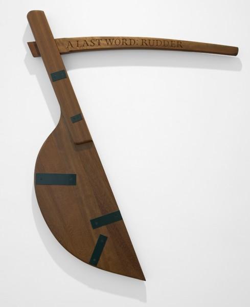 Ian Hamilton Finlay, A Last Word: Rudder, 1999