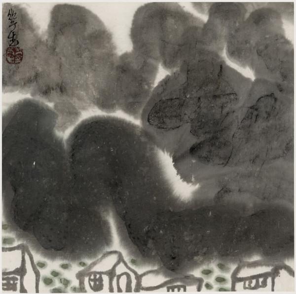 Li Huasheng 李华生, Mountains of Sichuan Album No. 1 (3)蜀山册 之一(3), 1990
