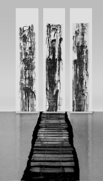 Tao Aimin 陶艾民, High Mountains and Flowing Water, Installation 高山流水,装置, 2007