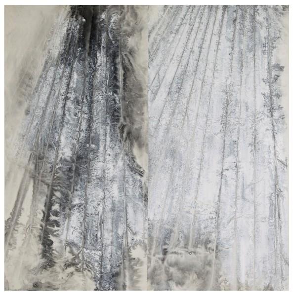 Zheng Chongbin 郑重宾, Eroded Strata 风化的石层, 2015