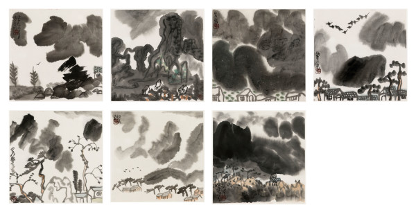 Li Huasheng 李华生, Mountains of Sichuan Album No. 1 蜀山册 之一, 1990