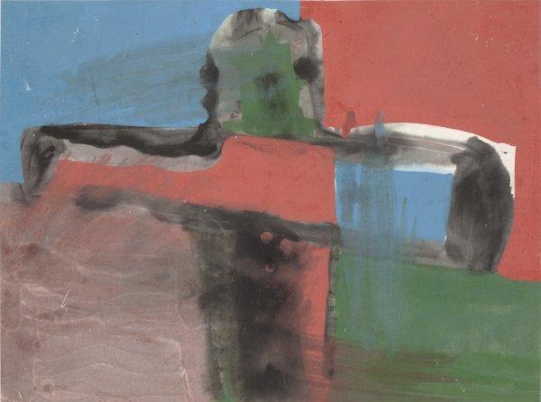 Zheng Chongbin 郑重宾, Ink Color Series No.3 墨彩系列3号, 1987