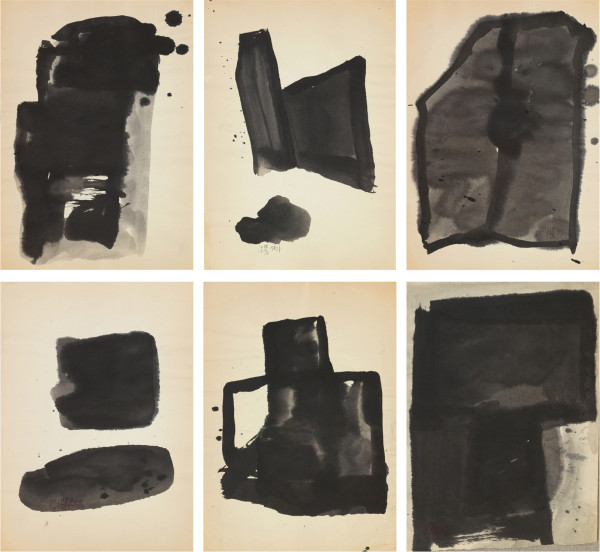 Yang Jiechang 杨诘苍, Sketches for Les Magiciens de la Terre 大地魔术师画稿, 1989