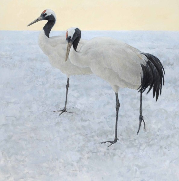 Ron Kingswood, First Light - Manchurian Cranes