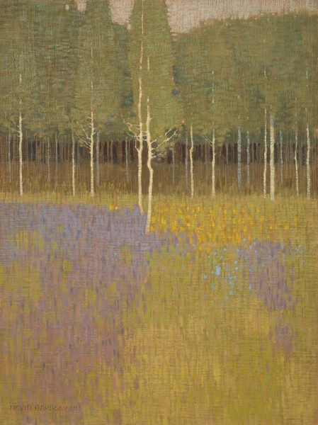 David Grossmann, Forest Edge and Scattered Flowers