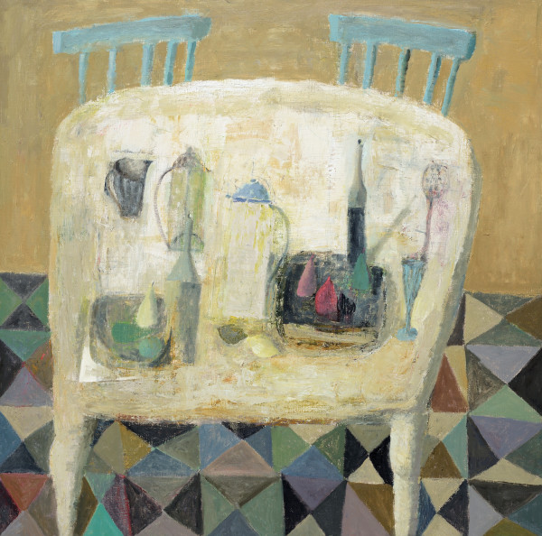 Nicholas Turner, White Table with Chairs
