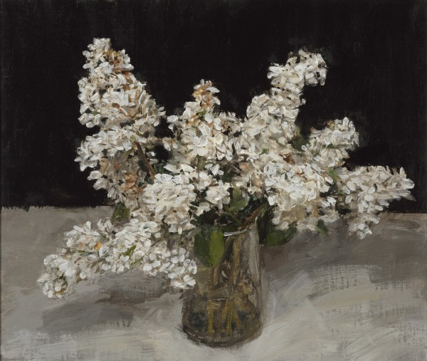 Ben Henriques, White Lilac in a Glass Jug