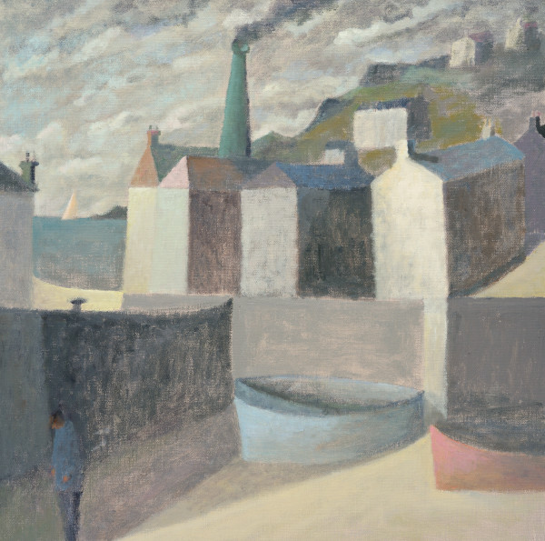 Nicholas Turner, Harbour with Chimney and Figure