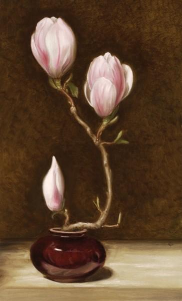 James Gillick, Three Magnolia Blooms, 2003