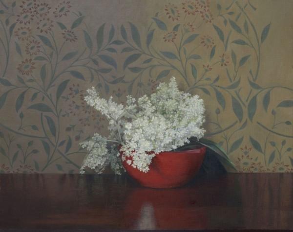 Susan Angharad Williams, Elderflowers in a Red Bowl