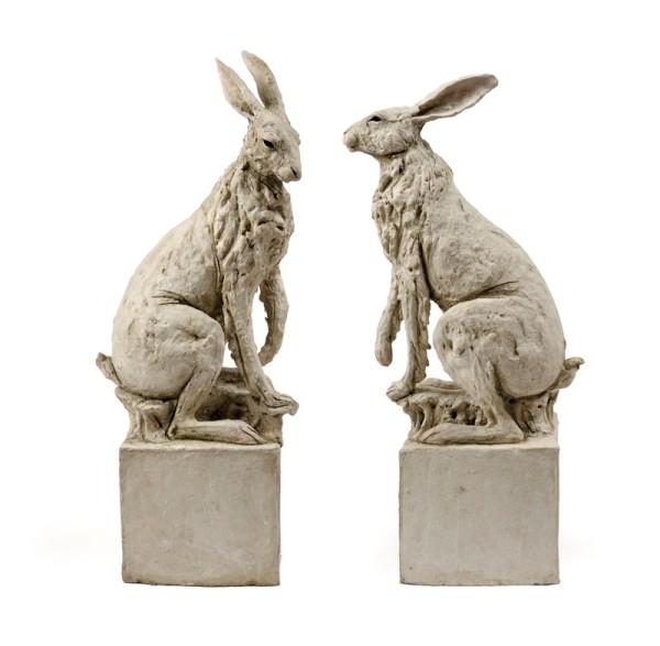 Tanya Brett, Hare VI (left), and Hare VII (right)