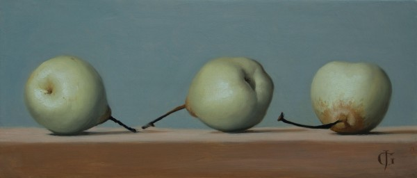 James Gillick, Three Chinese Pears, 2015