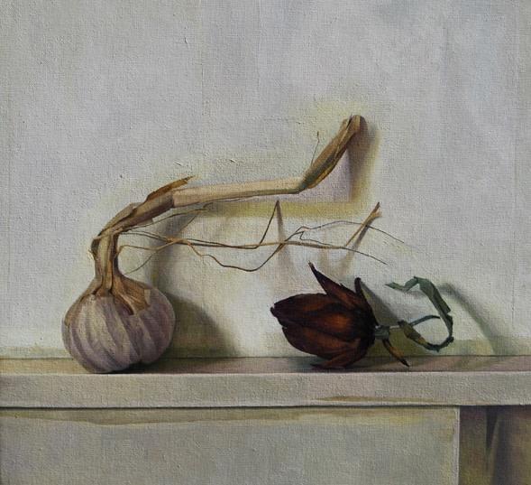 Susan Angharad Williams, Artichoke Bud and Garlic Stem