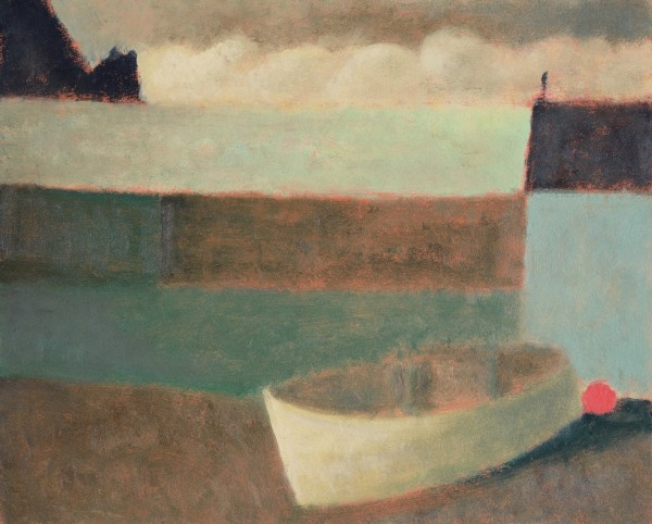 Nicholas Turner, White Boat at Mullion Cove