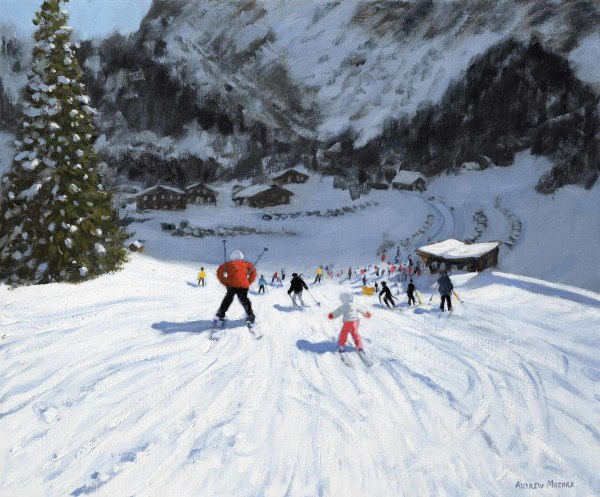 Andrew Macara, Skiing into the Valley, Val Gardena, Italy